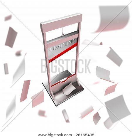 Deadline conception: guillotine as a deadline