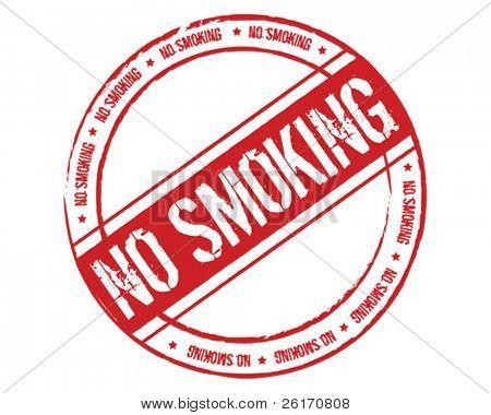 Grunge rubber stamp no smoking