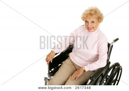 Senior Lady In Wheelchair Horizontal