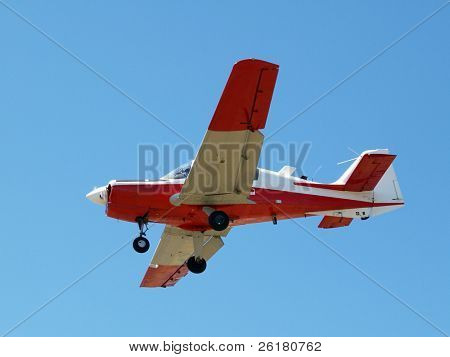 A Vintage Beagle Bulldog aircraft on final approach