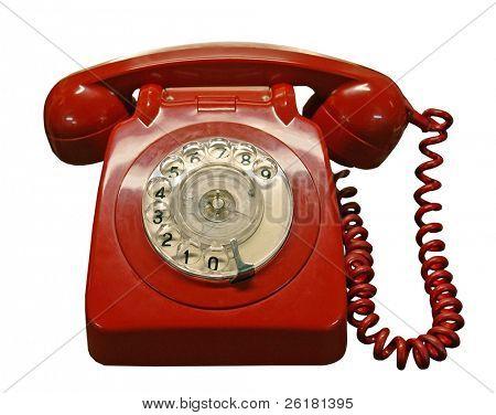 Telefone vintage vermelho