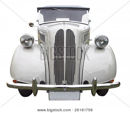 1949 C lassic Tourer isolated with clipping path