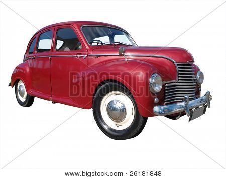 1953 Jowett Javelin isolated with clipping path