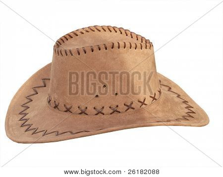 Suede Stetson isolated with clipping path