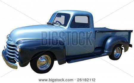 1948 Chevrolet Thriftmaster Truck isolated with clipping path