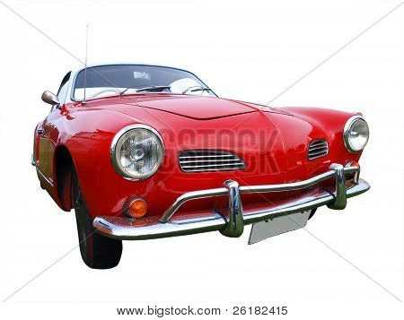 1965 automobile isolated with clipping path