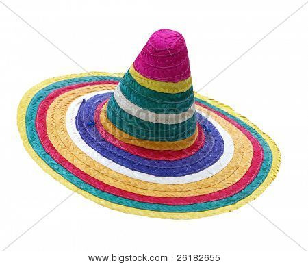 Colorful Sombrero isolated with clipping path