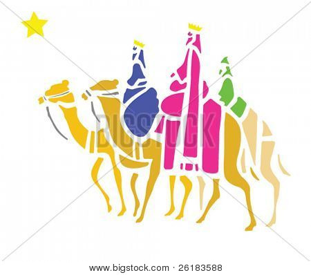 The Three Wise Men in Vector Format