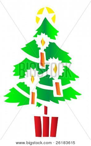 Stylized Chrstmas Tree in Vector Format