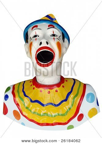 Carnival Feed the Clown Figure isolated with clipping path