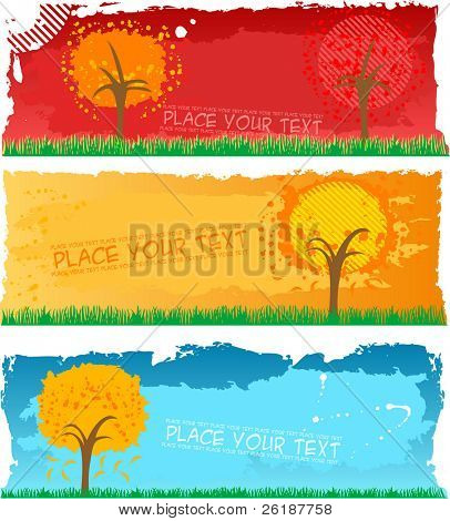 autumn banners - vector