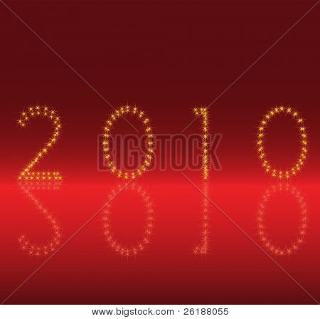 new year - 2010 sign vector