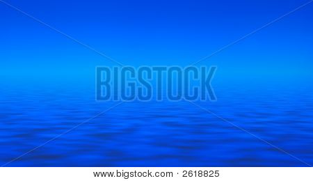 Blue Sky And Blue Water