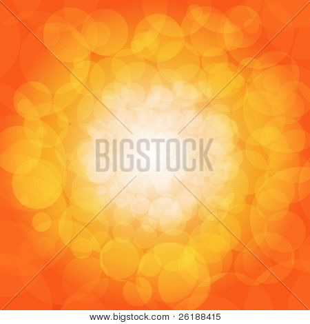 Glittering orange lights background