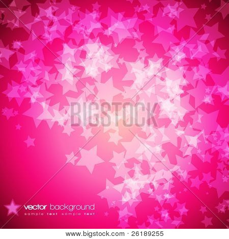Colorful stars vector background with text
