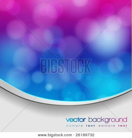 EPS 10 Blue and purple bokeh abstract light background with frame and shadow - Vector illustration