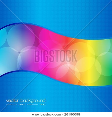 EPS10 - Colorful circles lights vector background
