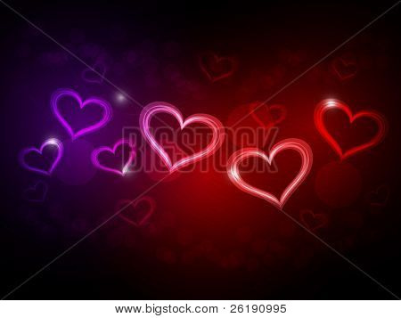EPS10 Abstract Hearts of Valentine's Day - Vector Design