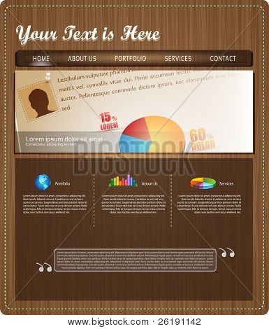 EPS10 Colorful Website Template - Vector Design