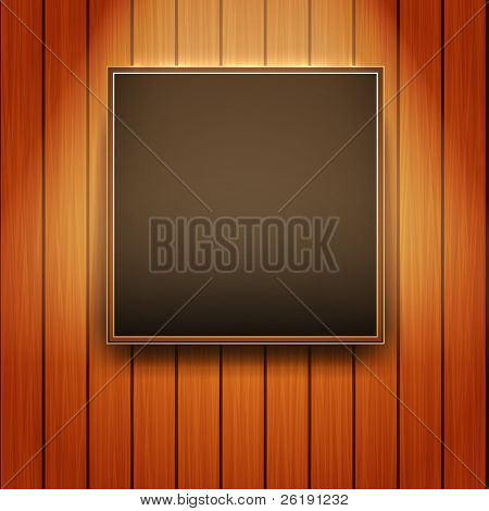 Vector Picture Frame on Wall - Realistic Design