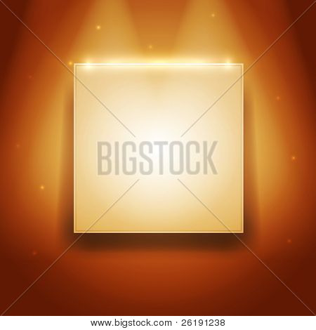 Brightly Frame of Picture on the Wall - Realistic Vector Design
