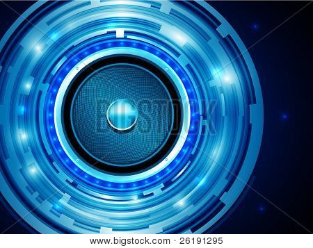 EPS10 Design for Shiny Dark Blue Audiospeaker - Abstract Vector Background