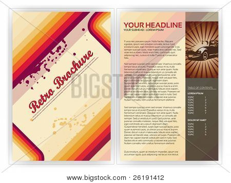 Retro Brochure Template - EPS10 Vector Design