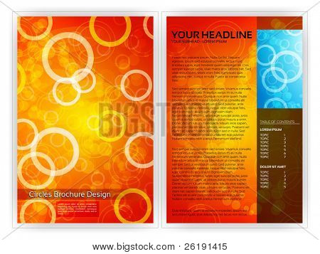 Circles Brochure Template - EPS10 Vector Design
