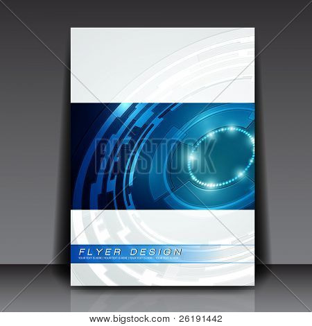 Technology Vector Flyer Design - EPS10 Background