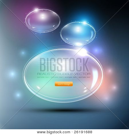 Abstract Background - Glass Balls - Vector Speech Bubbles
