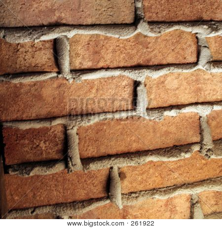 Seeping Concrete Brick Wall