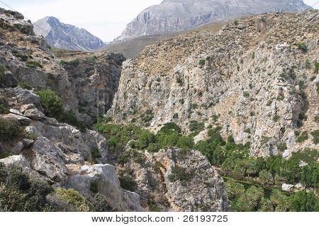 Cretan gorge at Preveli on the south coast