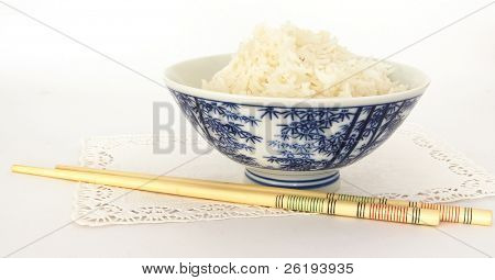 Ricebowl and chopsticks