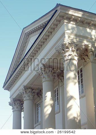 Tympanum and columns