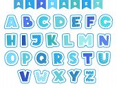 Cartoon Alphabet. Letters Fonts Symbols And Numbers Vector Colored Funny Characters Isolated. Illust poster