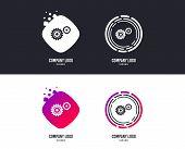 Logotype Concept. Cog Settings Sign Icon. Cogwheel Gear Mechanism Symbol. Logo Design. Colorful Butt poster