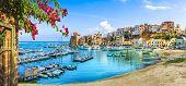 Sicilian Port Of Castellammare Del Golfo, Amazing Coastal Village Of Sicily Island, Province Of Trap poster