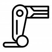 Prosthesis Leg Line Icon. Mechanical Leg Vector Illustration Isolated On White. Robot Leg Outline St poster
