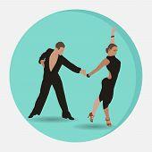 Ballroom Sport Dancing, Couple Dancing Samba, Dance Studio Dance poster