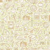 Back To School Pattern With School Elements And Decorative Details. Welcome Back To School Seamless  poster