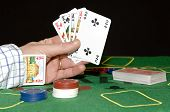 Having a card up your sleeve: Cheating at poker, or committing adultery; taking chances, risking eve