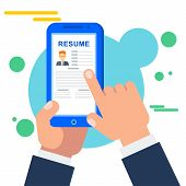 Search For Staff For A Job Online In The Mobile Job Search Application poster