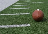 picture of ncaa  - Football on the field hashmarks - JPG
