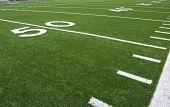 pic of football field  - Yard Lines of a Football Field - JPG