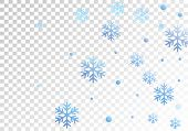 Winter Snowflakes And Circles Border Vector Illustration. Unusual Gradient Snow Flakes Isolated Bann poster