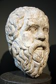 image of socrates  - 4th century BC bust of the great philosopher - JPG