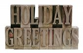 Holiday Greetings In Metal Type