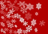 Snow Flakes Falling Macro Vector Design, Christmas Snowflakes Confetti Falling Chaotic Scatter Card. poster