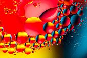 Scientific Image Of Cell Membrane. Macro Up Of Liquid Substances. Abstract Molecule Atom Sctructure. poster