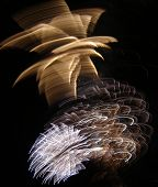 stock photo of guy fawks  - fireworks evening celebration guy fawkes 4th july new year - JPG